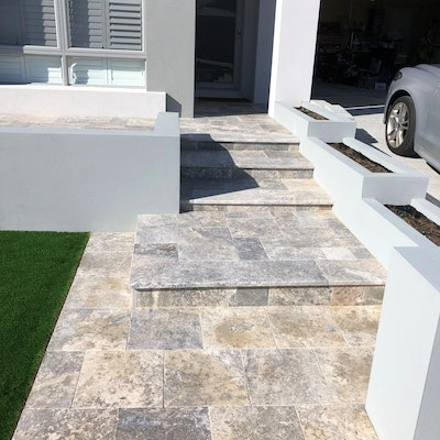 Atlantis Travertine Pavers and Capping