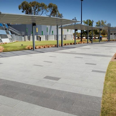 Silver Grey Granite & Black Granite Pavers