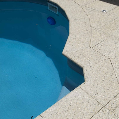 Ice Quartz Pool Pavers and Bullnose