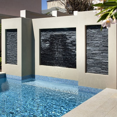 Black Quartz Natural Stone Cladding