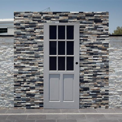 Safari & White Quartz Natural Stone Cladding