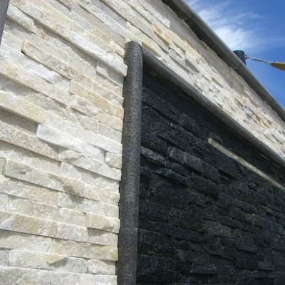 White Quartz & Black Quartz Natural Stone Cladding