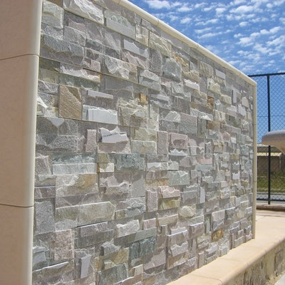 Knapped Ice Natural Stone Cladding