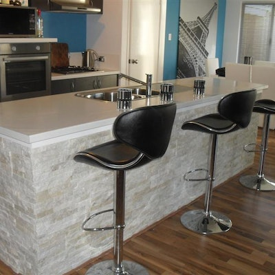 White Quartz Natural Stone Cladding
