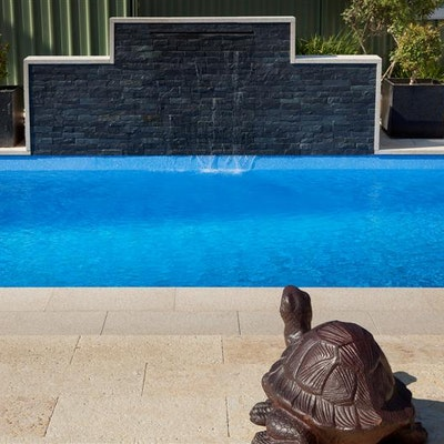 Bronze Granite Pavers, Knapped Black Cladding