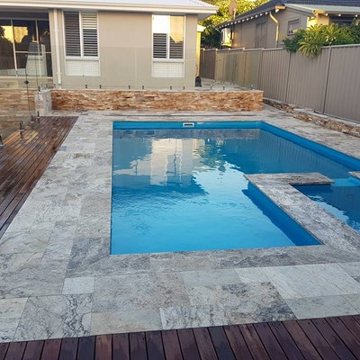 Ibiza French Travertine Pool Paving