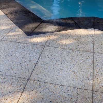 Ice Quartz Paving, Black Granite