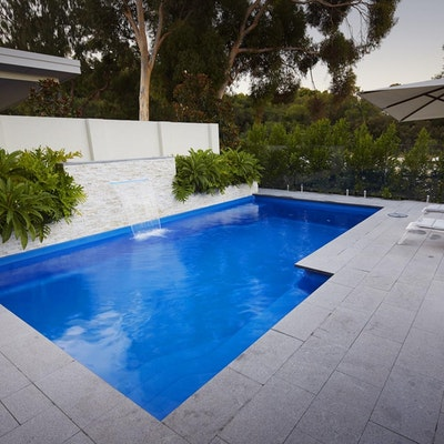 Grey Granite Pool Paving and Capping