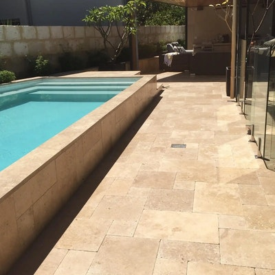 Cappuccino French Travertine Pavers