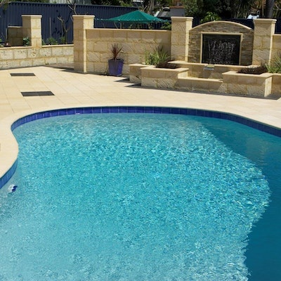 Sandstone Coral Pool Paving