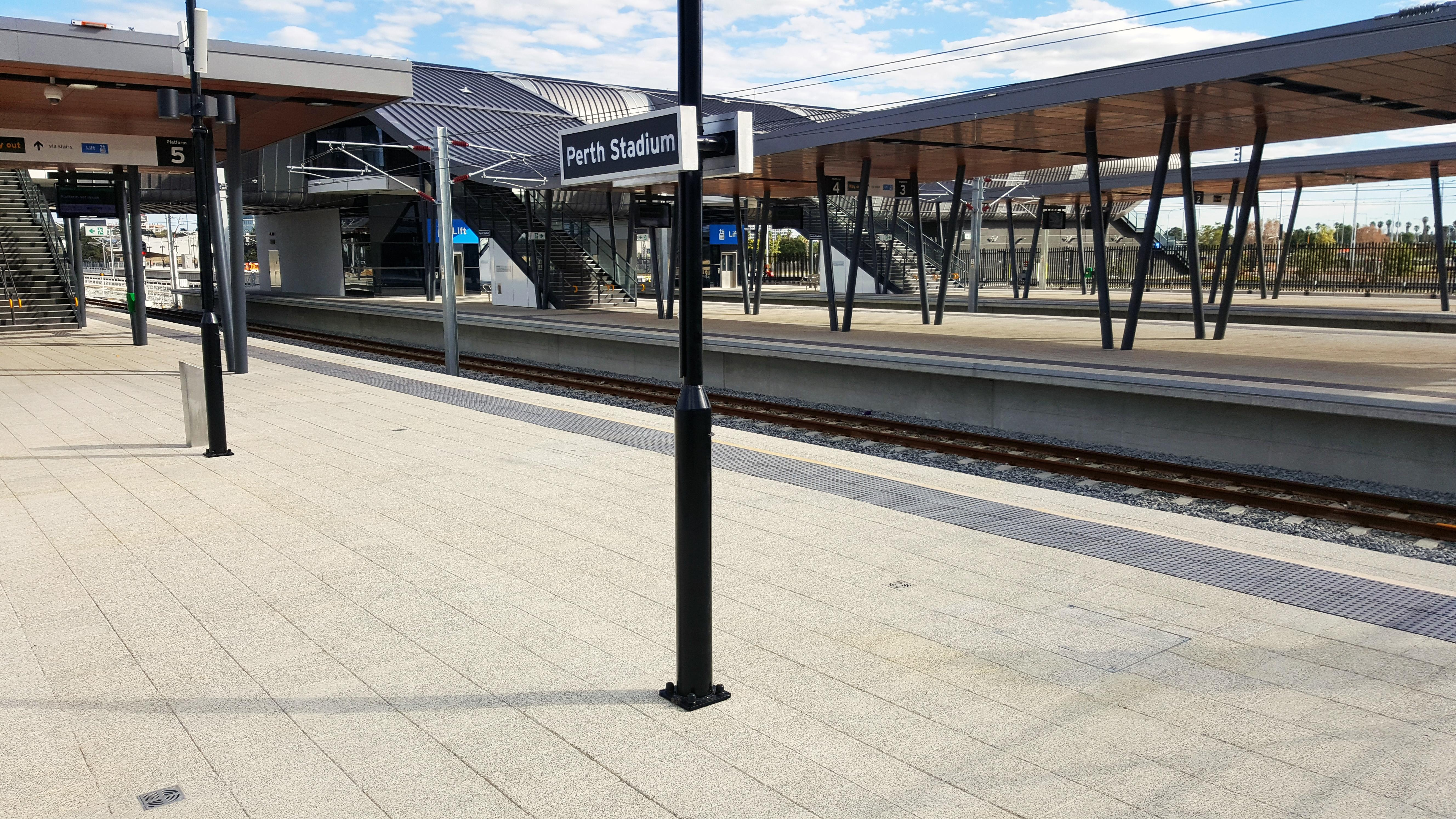Perth Stadium Train Station Paving