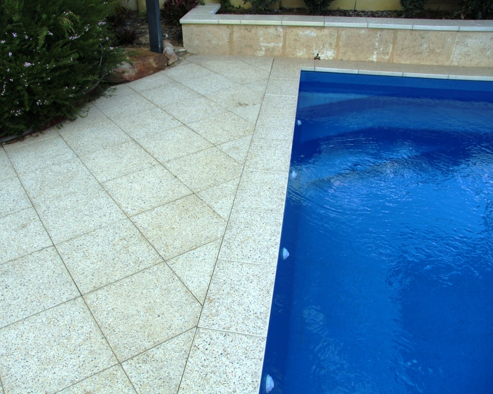 Ice Quartz and Terrazzo Pavers