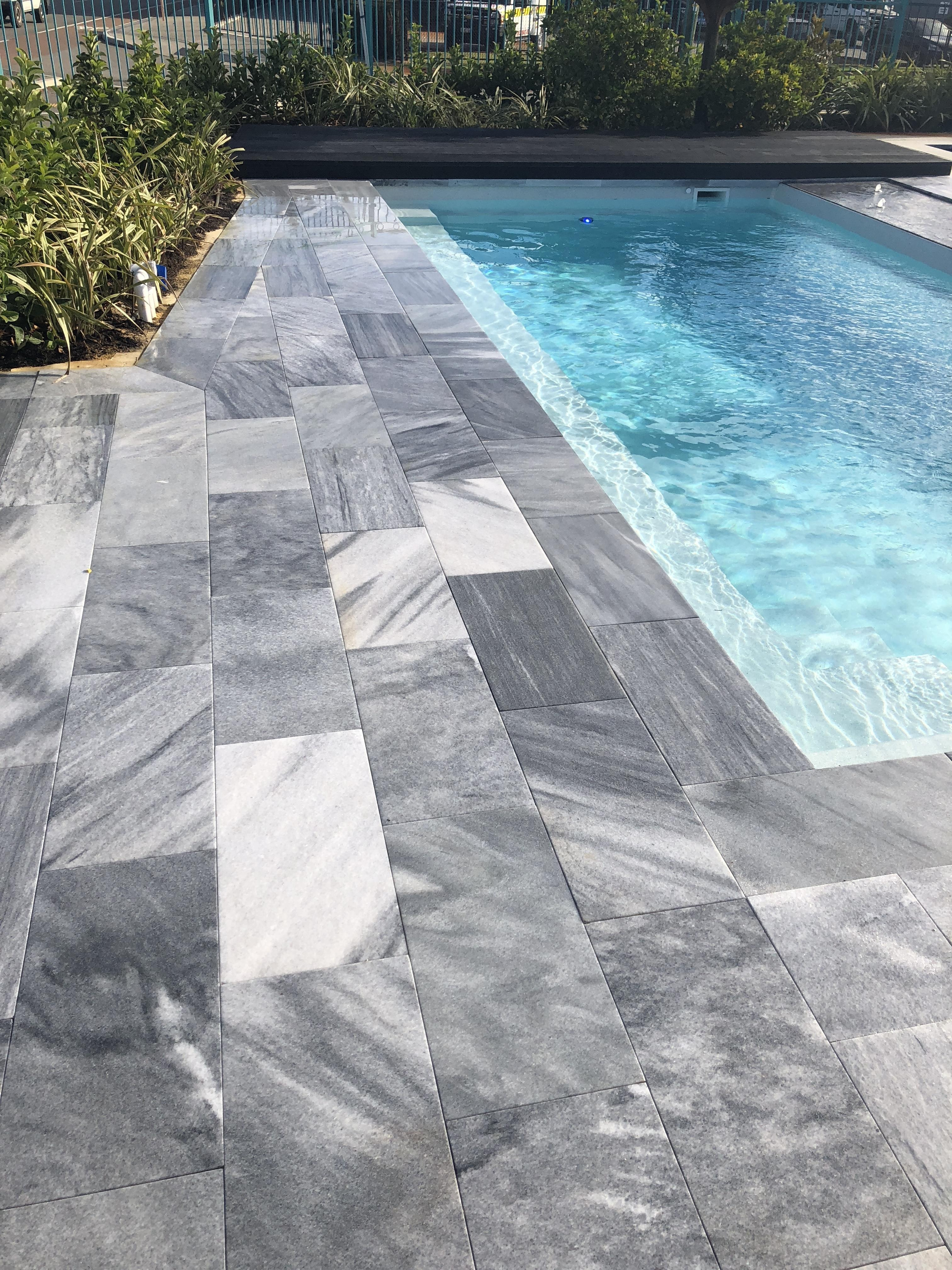 Stormstone rectangular pavers and overhanging lip Perth