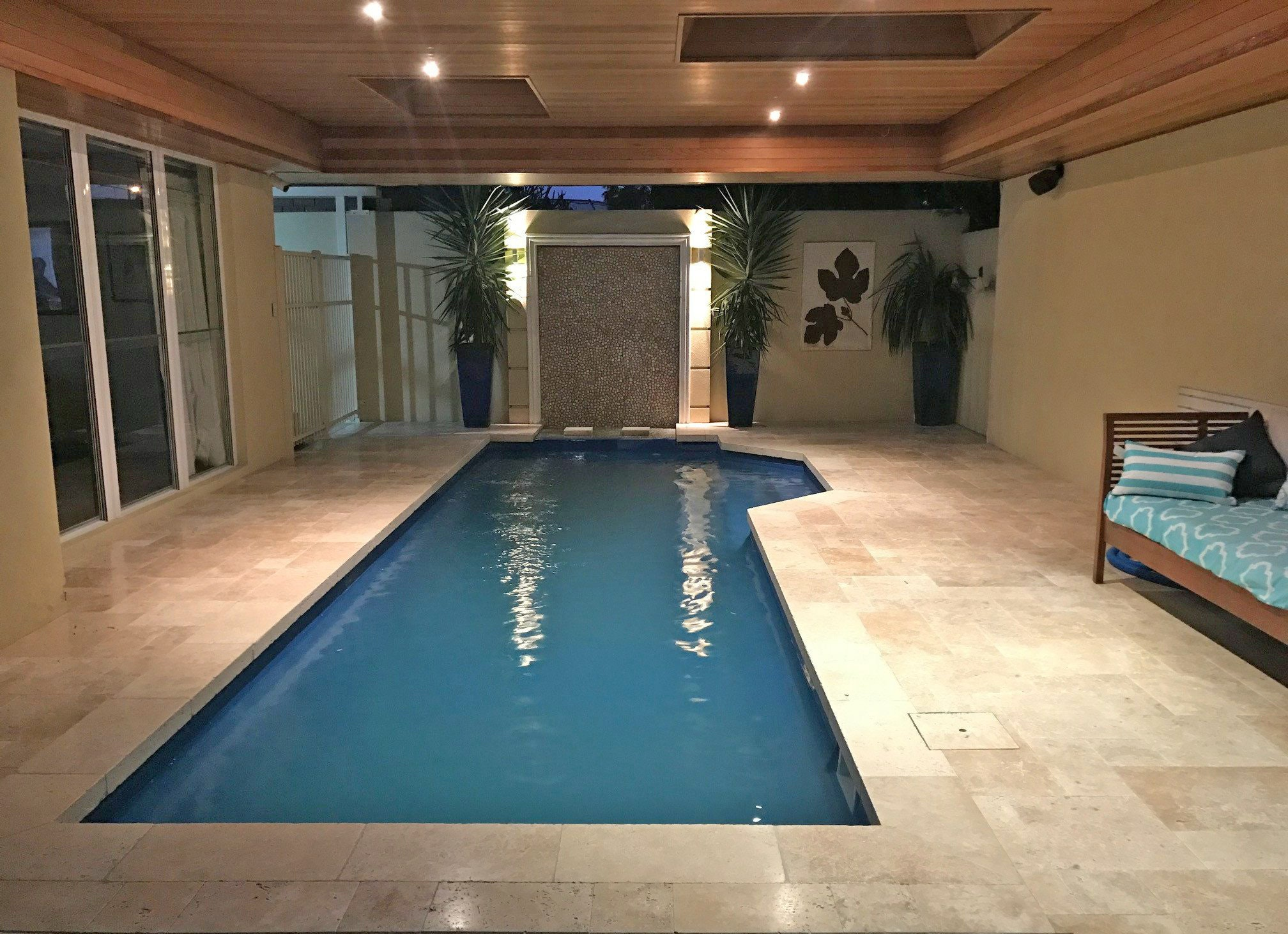 Roma Travertine - French pattern Pool Paving Perth