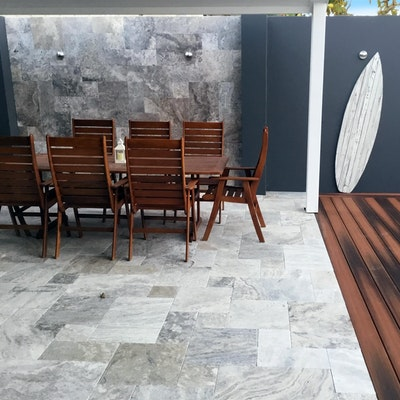 Ibiza Travertine French Pattern Pavers