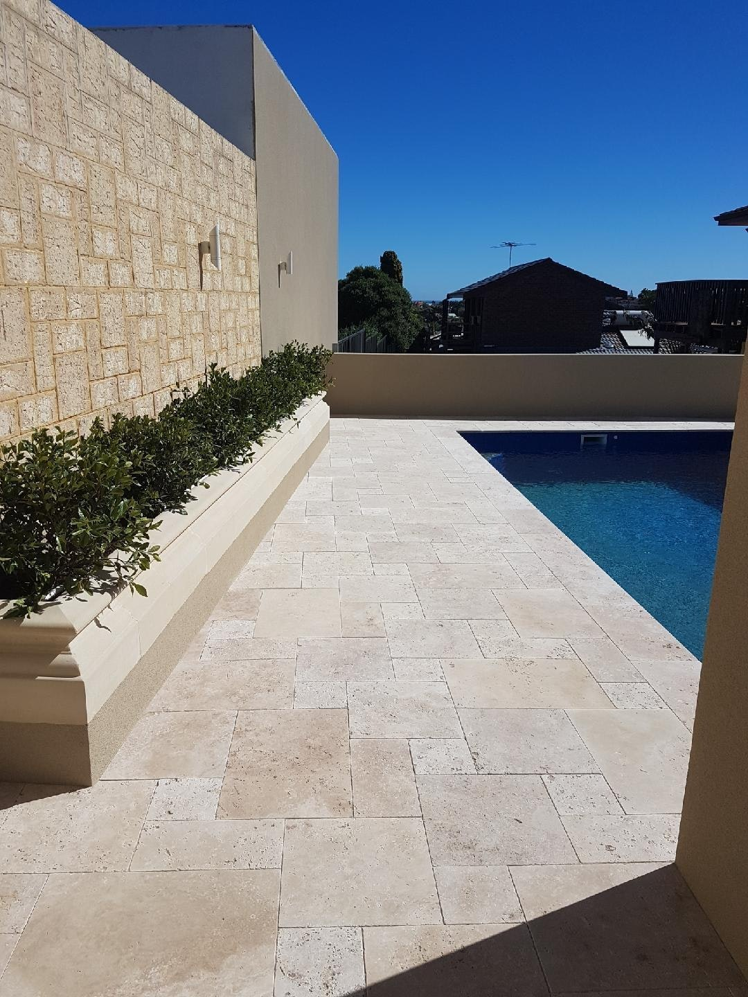 Roma French Travertine Pool Paving Perth