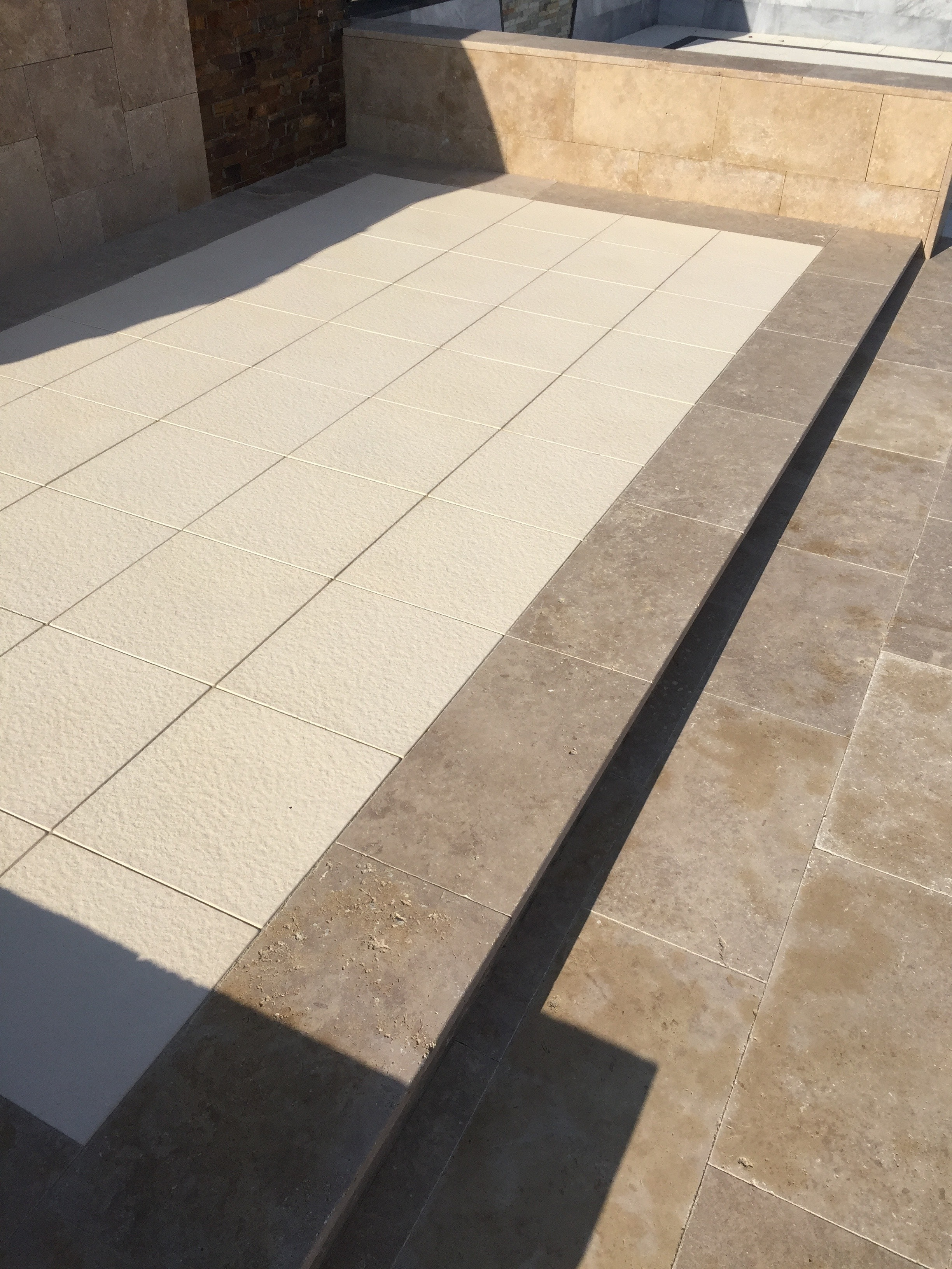 Cappuccino Travertine Paving Perth