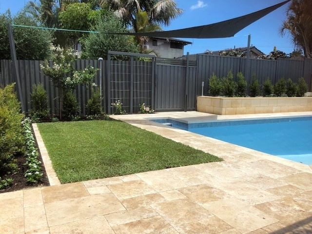 Roma Travertine - French pattern alfresco Paving Perth