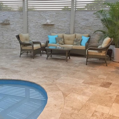Roma Travertine French Pattern Alfresco Pavers