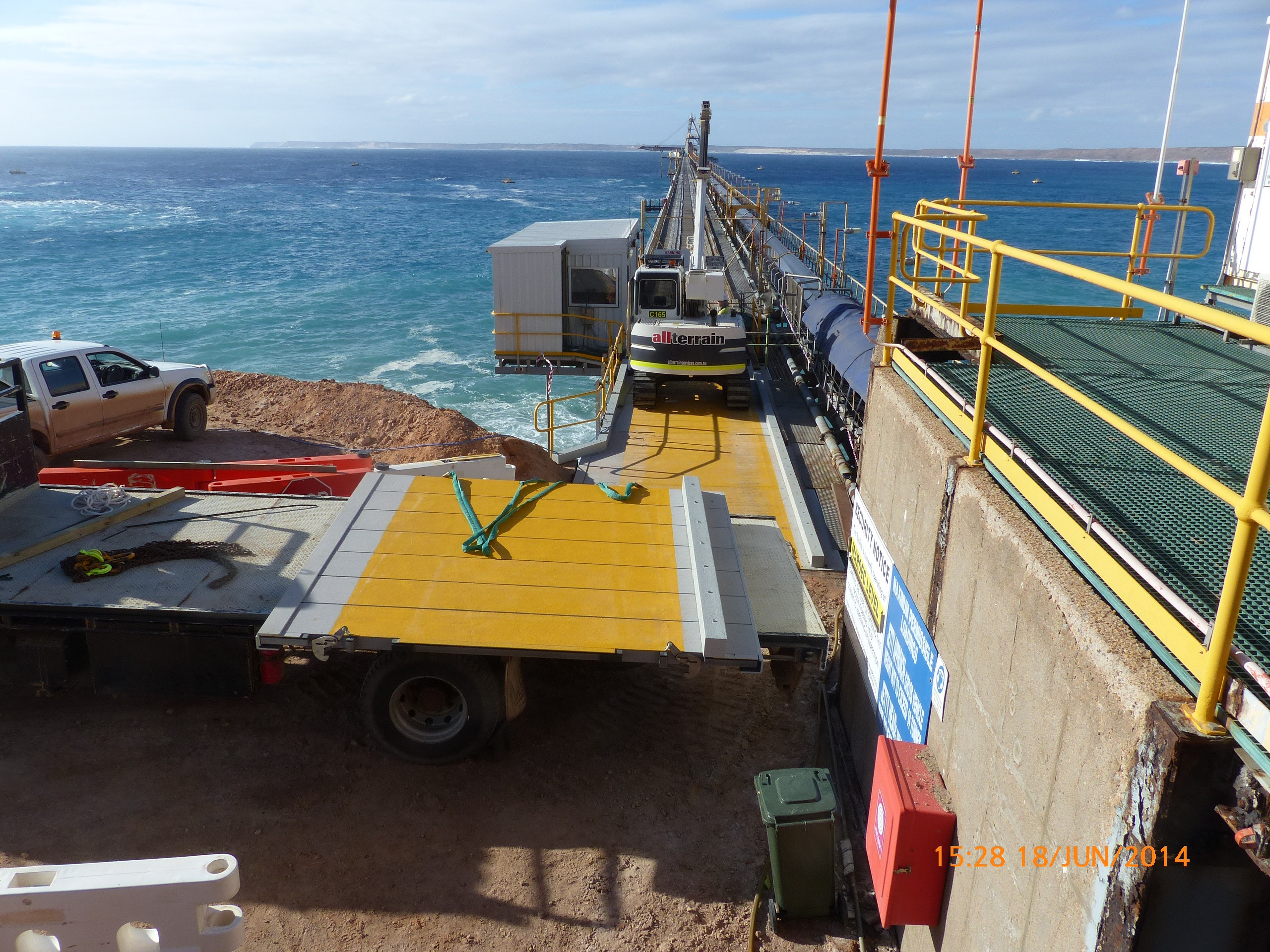 Non-Skid Structural Vehicular Decking for Jetty
