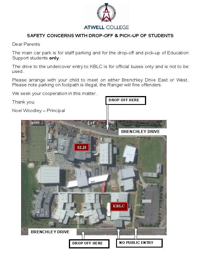 Safety concerns with drop off & pick up of students