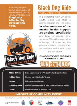 Black Dog Ride Around the Fire 2016 Community Poster