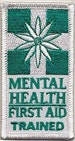 Black Dog Ride Mental Health First Aid Training (MHFA) July 2015 MHFA Trained Patch
