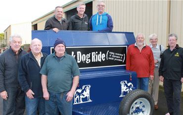 Black Dog Ride with South West Freemasons and the trailer