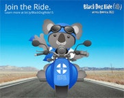 Black Dog Ride Across America - ALGEE Bear