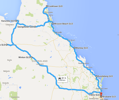 Black Dog Ride QLD 2016 Itinerary v1