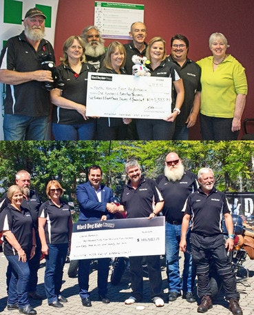 2015 Black Dog Ride to the Red Centre Cheque Presentation