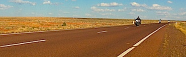 Black Dog Riders outside Coober Pedy