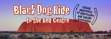 Black Dog Ride to the Red Centre 2015 Uluru Banner