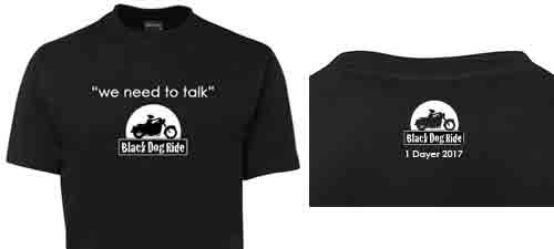 Black Dog Ride 1 Dayer 2017 T-shirt Preview