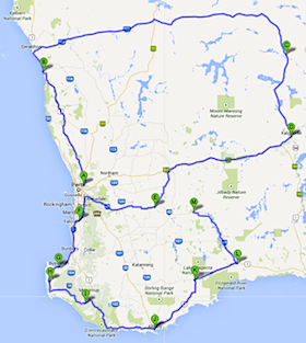 Black Dog Ride WA State Ride 2014 Map Thumbnail