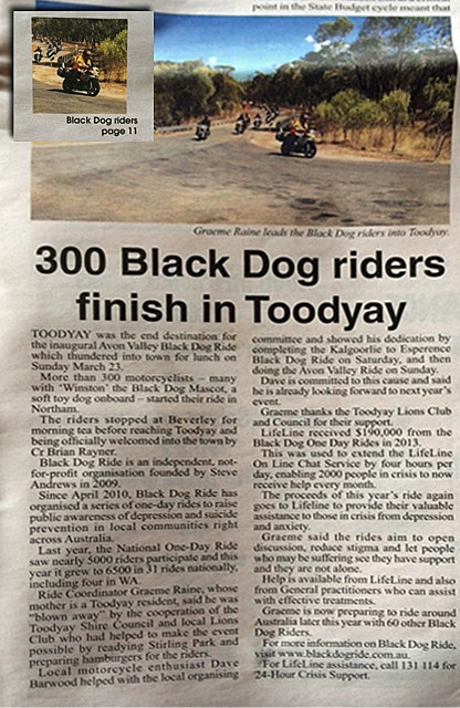 Black Dog Ride 1 Dayer Media Northam Toodyay