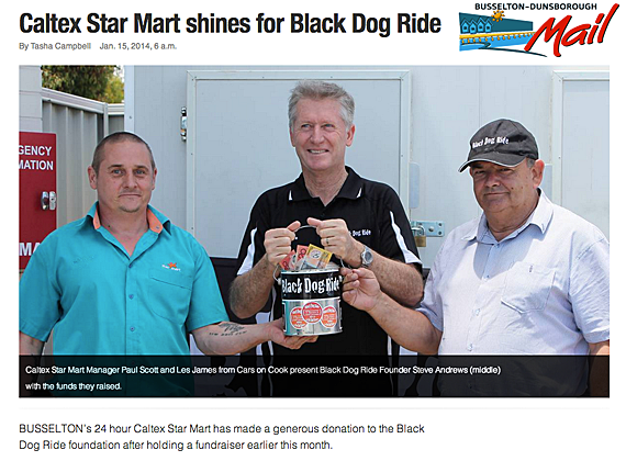 Black Dog Ride 1 Dayer Media Caltex Busselton Dunsborough Mail