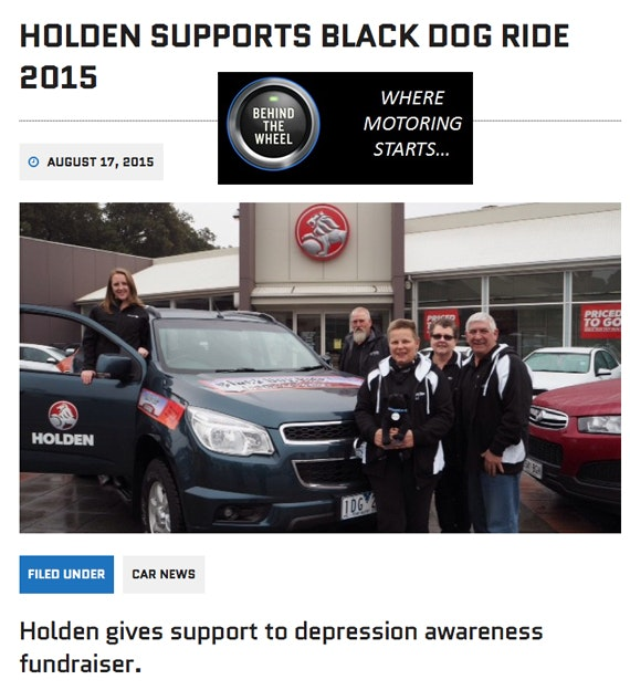 Black Dog Ride Red Centre 2015 Media - Holden Supports Black Dog Ride - Behind The Wheel Mag