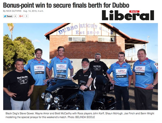 Black Dog Ride Red Centre 2015 Media - Dubbo Rugby Match for BDR!