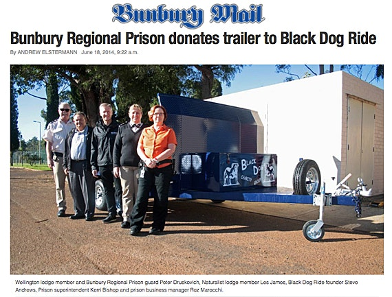 Black Dog Ride Around Australia Media - Bunbury Prison Donates Trailer