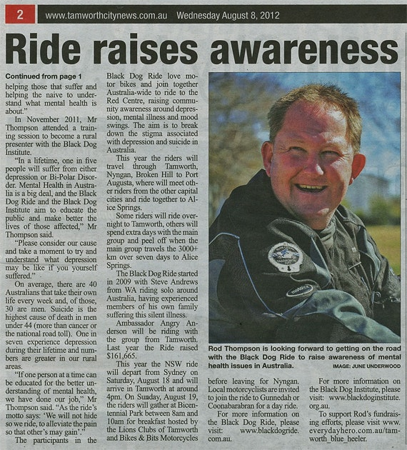 Rod Thompson in Tamworth City News