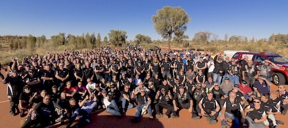 Black Dog Riders at Uluru, 2015