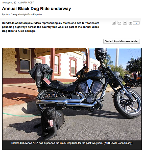 Annual Black Dog Ride Underway