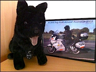 Winston - The Black Dog Ride Mascot