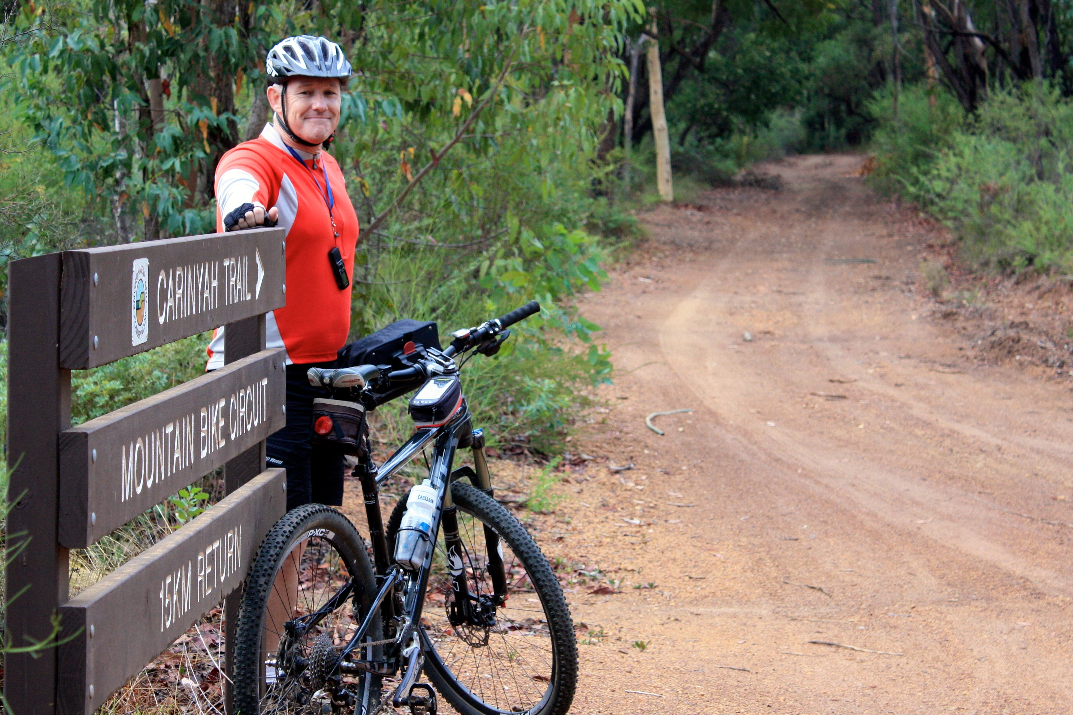Me and the sign at the Trail Head