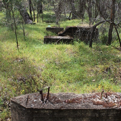 Old foundations at Clackline