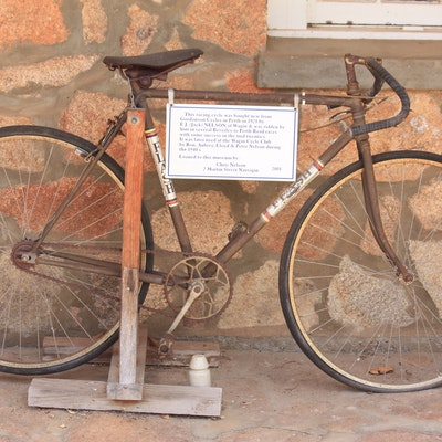 1921 Gordonson bike, made in WA, now in Wagin