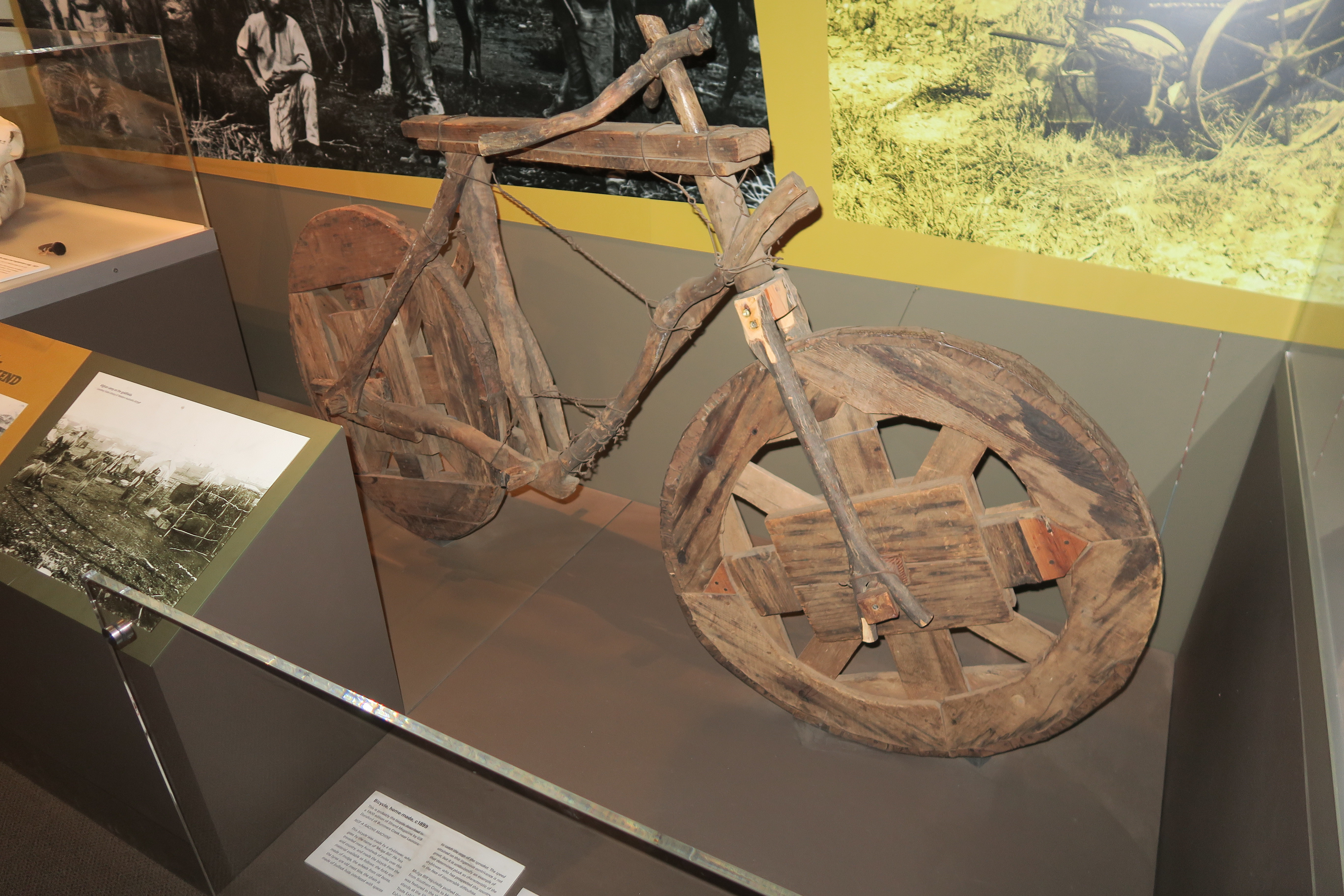 Home made bicycle from 1899, Kalgoorlie Museum