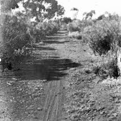 Camel/bicycle pad, Kalgoorlie 1930's