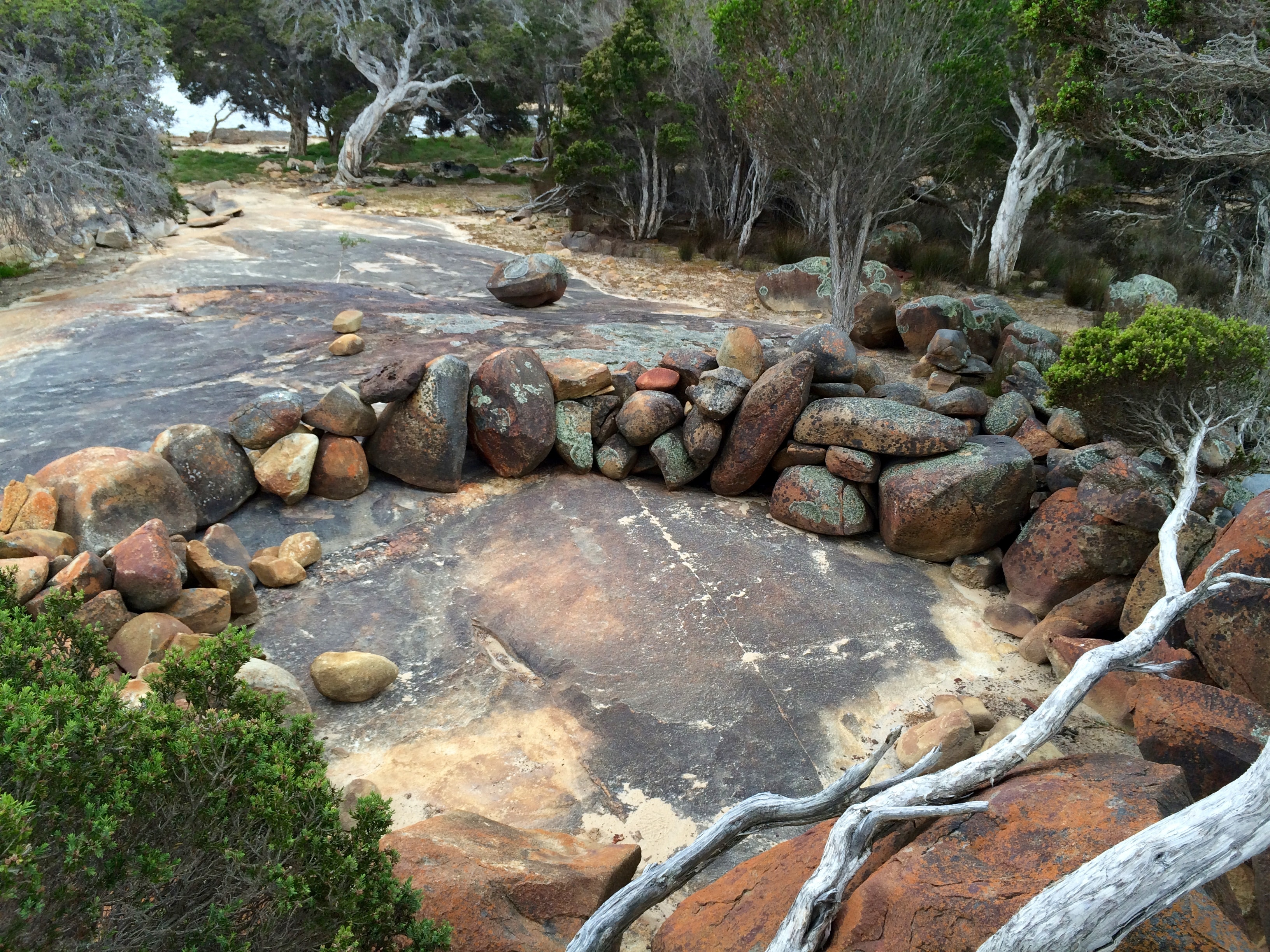 Aboriginal fish trap, Wilson Inlet